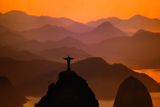 Jesus statue overlooking Rio de Janeiro, Brazil