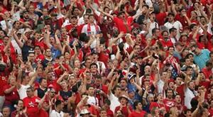 Soccer fans passion