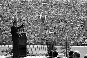 Billy Graham preaches