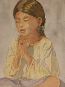 ภาพเด็กอธิษฐานของ Wanda