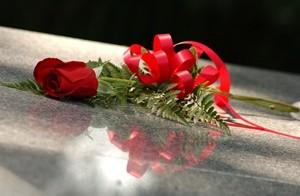 บนหลุมศพ